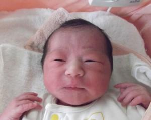 2017年10月11日生まれ 柚葉ちゃん
